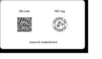 Visitekaart met NFC-achter
