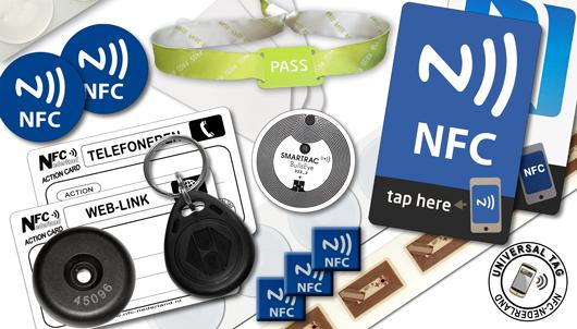 Diverse NFC-Tag-uitvoeringen