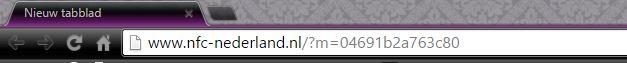 Webadres met chip-id
