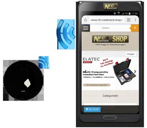Mobiel-met-NFC-tag